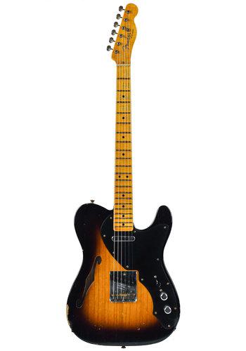Fender Custom Fender Custom Shop LTD Blackguard Telecaster Thinline Wide Fade 2 Color Sunburst Relic