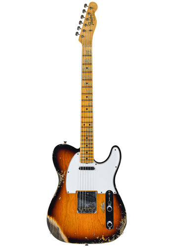 Fender Custom Fender Custom Shop 65 Tele Faded Aged 3 Color Sunburst Heavy Relic