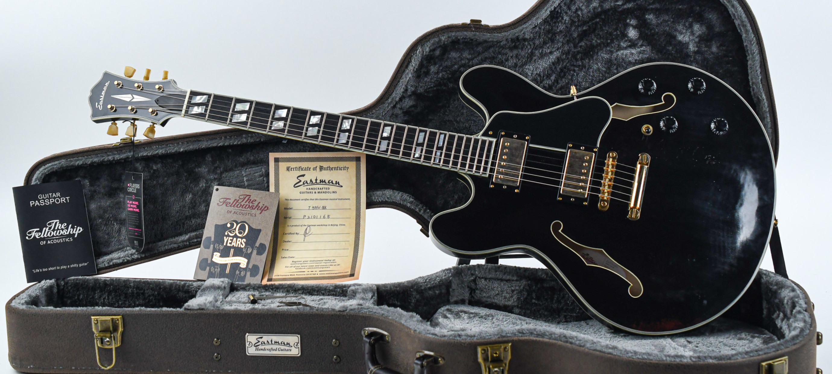 Just in: more exclusive 20th Anniversary guitars  with a free  goodie bag!