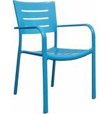 4 x Stoel James, blauw