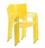 4 x Stoel James, geel