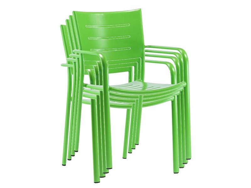 4 x Stoel James, groen