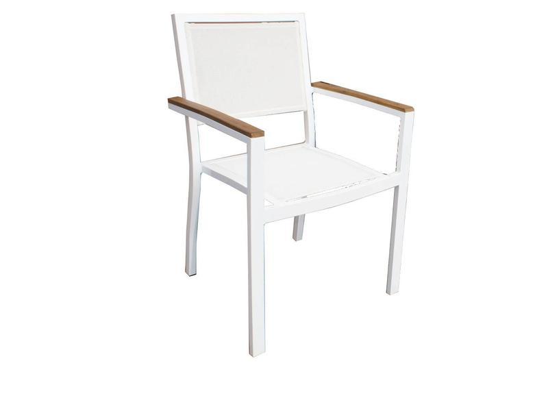 Stapelbare stoel Brighton wit