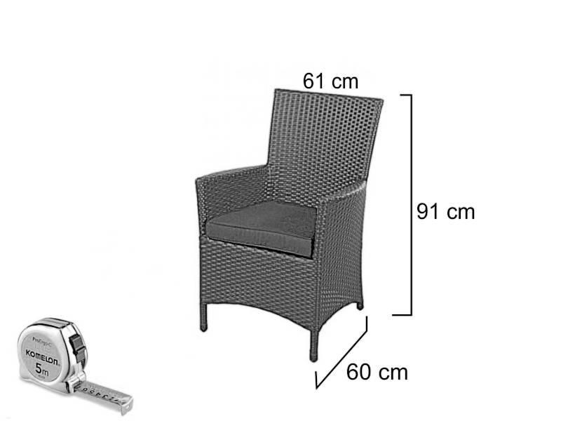 Duo-seat Toekan -Grijs - Plat vlechtwerk