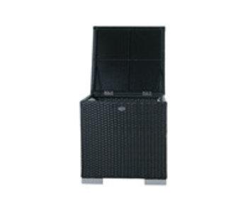 Kussen box I   60 x 60 x 60cm - Zwart - Plat vlechtwerk