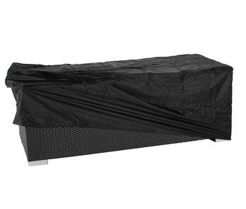 Kussen box III   180 x 75 x 65cm - Zwart - Plat vlechtwerk