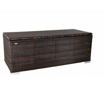 Kussen box III   180 x 75 x 65cm - Bruin - Rond vlechtwerk