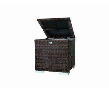 Kussen box I   60 x 60 x 60cm - Bruin - Rond vlechtwerk