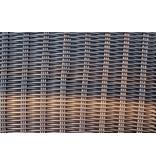 Barkruk Sofia II  (met rugleuning) per 2 stuks - Bruin - Rond vlechtwerk