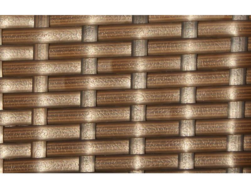 Loungeset Londen 2200 - Bruin - Plat vlechtwerk