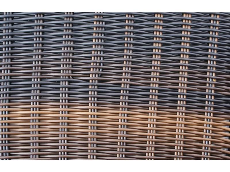 Loungeset Parijs 1111 - Bruin - Rond vlechtwerk