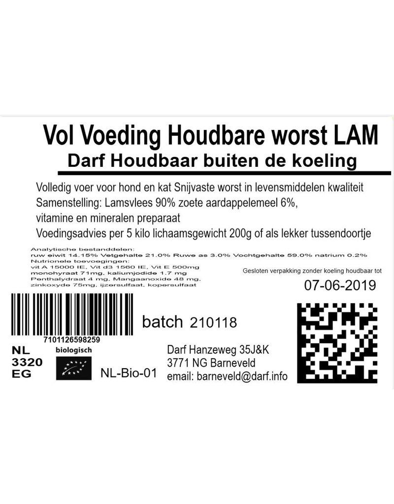 VOL voeding Houdbare worst Lam 500 gr