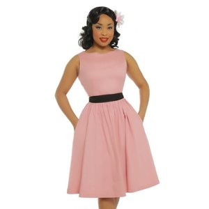 LINDY BOP -  'AUDREY' Pale Pink Swing Dress
