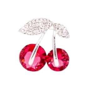 COLLECTIF -  Broche 'DIAMANTE CHERRY'