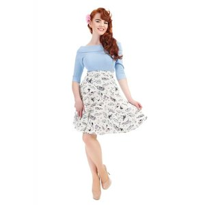 Collectif: Vintage Cars Skirt 'TAMMY'