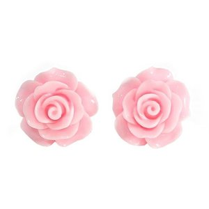 COLLECTIF - English Rose Stud Earrings PINK