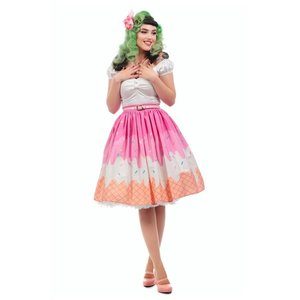 Collectif: Jasmine Swing Skirt 'ICE-CREAM'