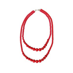 COLLECTIF - Necklace 'RED BEADS'