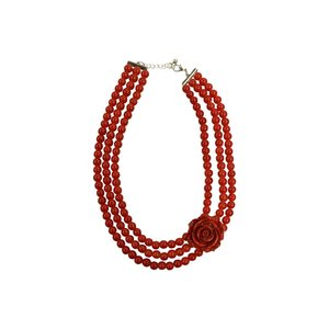 COLLECTIF - Necklace 'RED ROSE'
