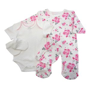 Pitter Patter: Baby Outfit 4-delig (0-6 mnd)