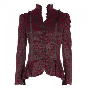 Banned: Black Gothic Vine Pattern Jacket