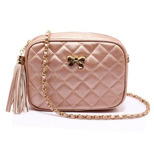 Anna Grace: Cross Body Schoudertas, champagne