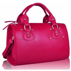 Pink Studded Satchel