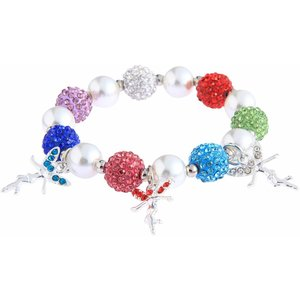 Crystal Bracelet With Fairy Charms. Diverse kleuren.