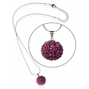 Sparkling Disco Ball Necklace. Diverse kleuren.