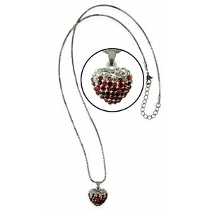 Sparkling Red Heart Crystal Necklace