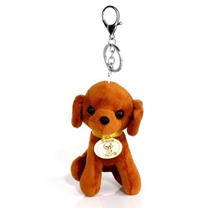 Brown Dog Bag Charm