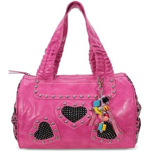 Heart Diamante Heart Shoulder Handbag