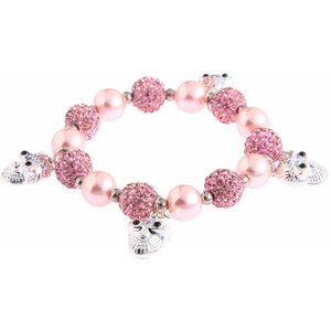 Crystal Bracelet With Skull Charms. Diverse kleuren.