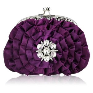 Sparkly Purple Crystal Clutch