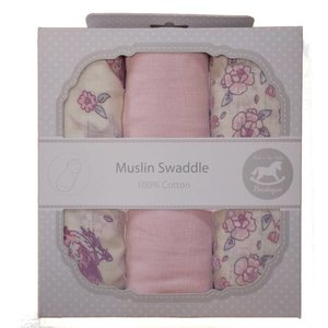 ROCK-A-BYE Gift Box with 3 muslins
