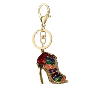 Anna Grace: Gold Multi Colour Shoe Bag Charm