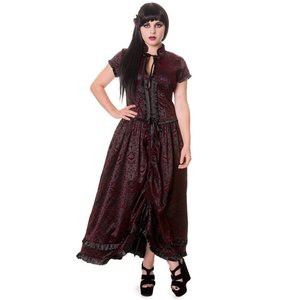 Banned: BLACK GOTHIC VINE PATTERN LONG DRESS