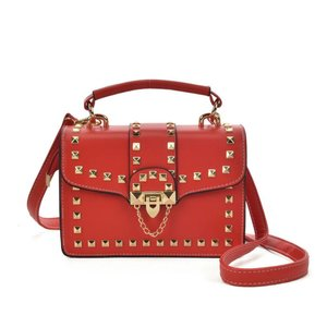 Cross Body Bag With Stud Decoration