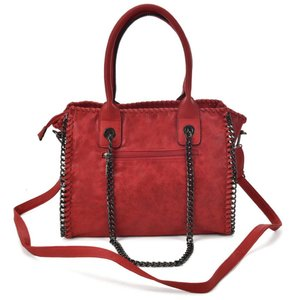 Retro Bucket Bag With Chain