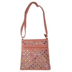Cross Body Bag With Jewel Decoration