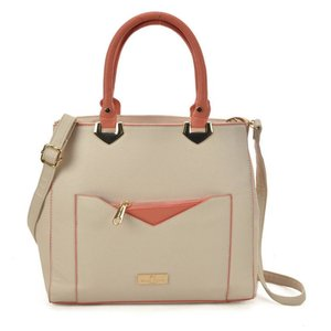 Contrasting Color Hand Bag