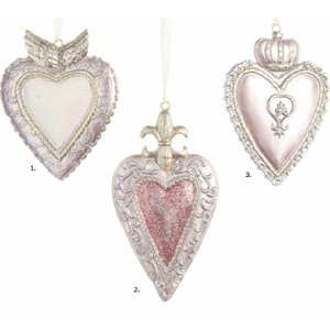 Royal Pink Hanging Hearts (3 stuks)