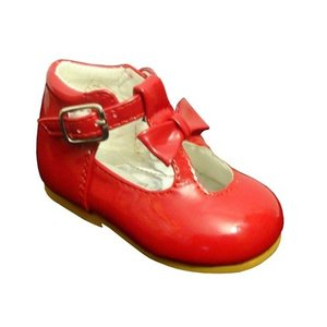Sevva: Red Spanish shoe with bow