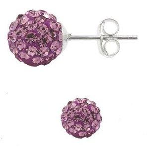 SWAROVSKI: Crystal Stud Earrings 'Light Amethyst' (6 mm)