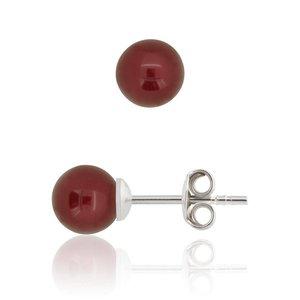 SWAROVSKI: Pearl Earrings 'Bordeaux' (6 mm)