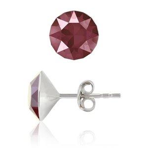SWAROVSKI: Crystal Earrings 'Dark red' (6 mm)