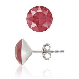 SWAROVSKI: Crystal Earrings 'Royal Red' (6 mm)