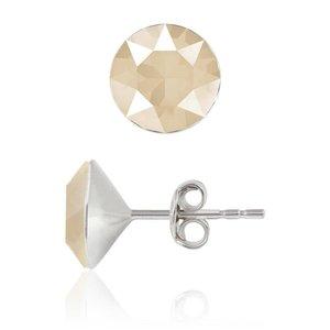SWAROVSKI: Crystal Earrings 'Ivory Cream' (6 mm)