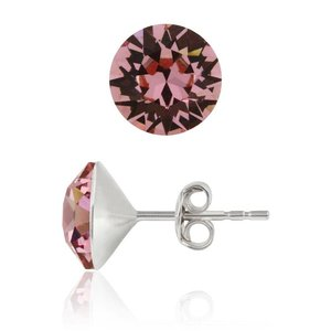 SWAROVSKI: Crystal Earrings 'Light Rose' (6 mm)