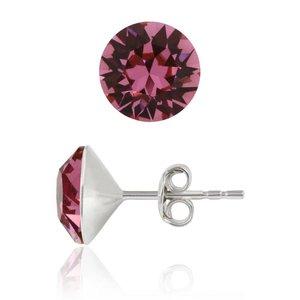 SWAROVSKI: Crystal Earrings 'Rose' (6 mm)